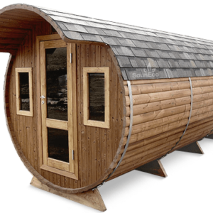 Three room barrel sauna from Sauneco