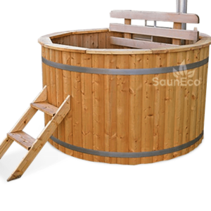 Large wooden hot tub from Sauneco