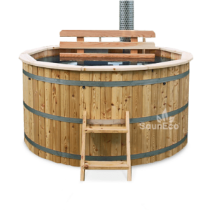Wooden Hot Tub Bath Barrel from Sauneco